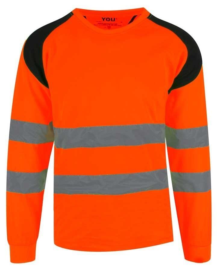 7d63b62d29e9c Refleks safety orange T-shirt m. Pro-Dry - YOU (L/Æ) (LUND)