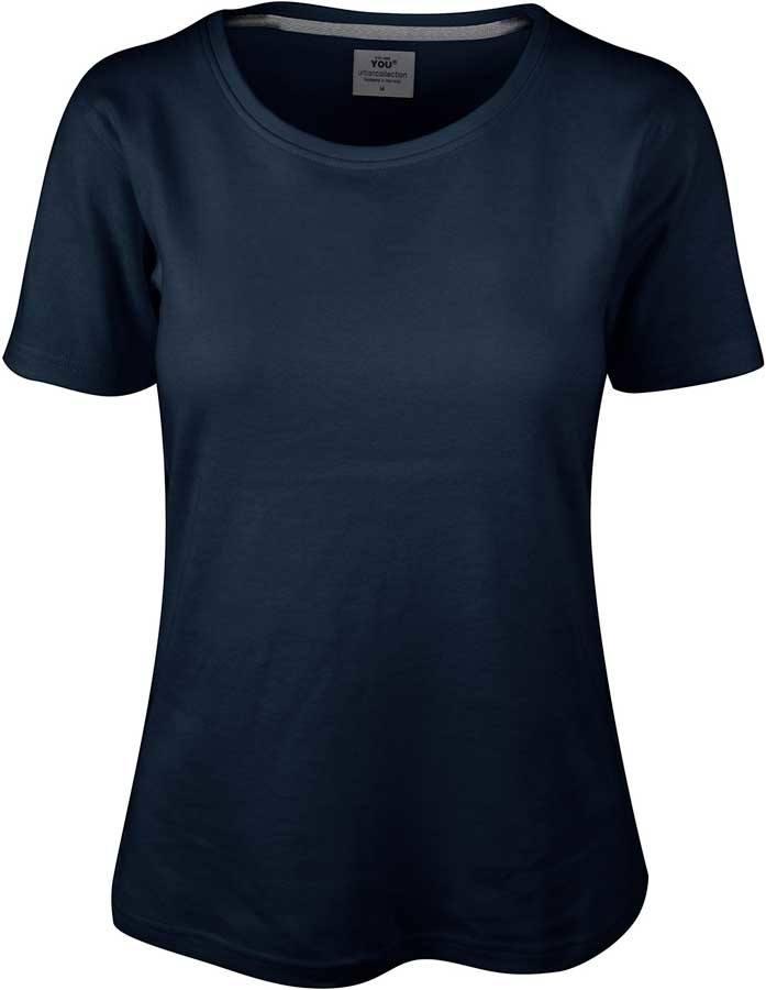 Navy blå interlock T shirt YOU