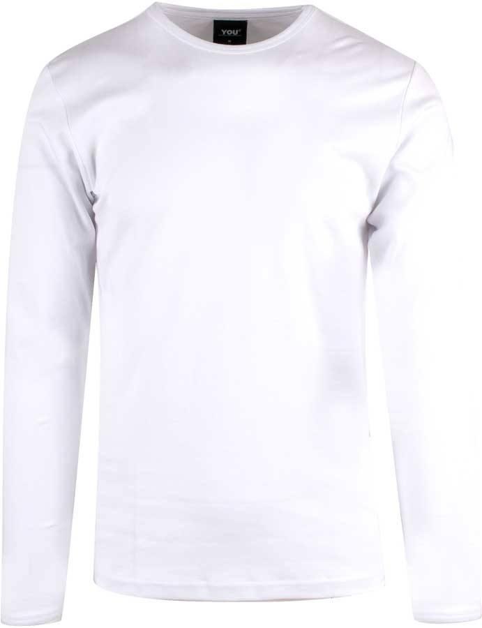 d2ea9903868 Hvid langærmet interlock T-shirt til mænd - YOU (GIBRALTAR)