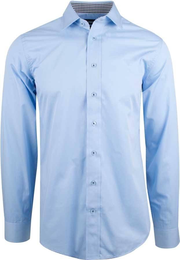 967c8c79 Lyseblå herre business skjorte m. udtagelige flipstivere - YOU (TERAMO)