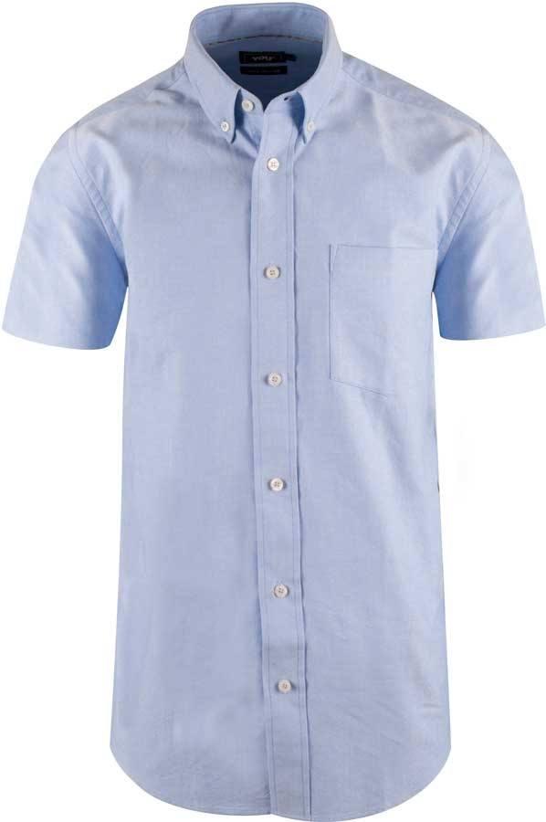 65c04a09f56 Lyseblå Oxfordskjorte med korte ærmer - YOU (Størr..